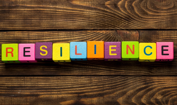 a picture containing colored blocks with the word resilience    Description automatically generated
